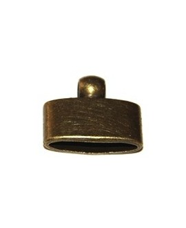 Terminal oval bronce, 30x25mm, paso 6mm