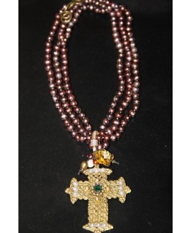 Collar perlas cobre