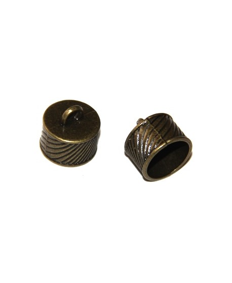 Terminal bronce 10x16mm, paso 14mm