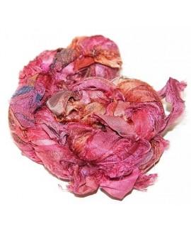 Seda sari pink 25 gramos, 8-10 metros