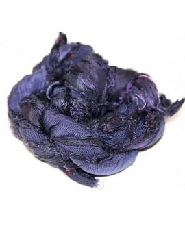 Seda sari royal purple  25 gramos, 8-10 metros