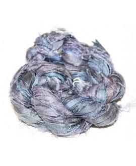 Seda sari blue topaz  25 gramos, 8-10 metros