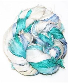Seda sari turquesa 25 gramos, 8-10 metros