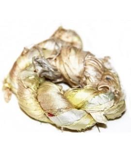 Seda sari beige white 25 gramos, 8-10 metros
