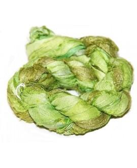 Seda sari nile green 25 gramos, 8-10 metros