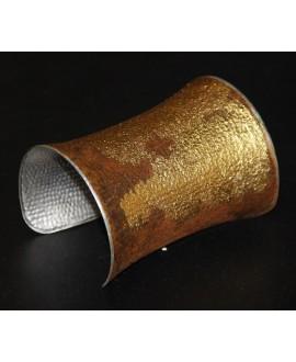 Brazalete metal patinado