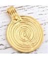 Colgante medallón 40x33mm paso 1,5mm, baño de oro 22 kilates