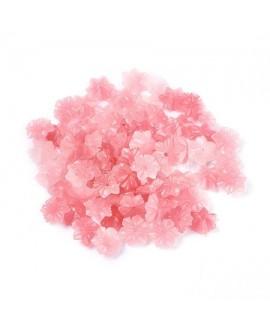Cuenta/entre-pieza coral sintético, rosa, 9x9x3.5mm paso 1mm, 10 unidades