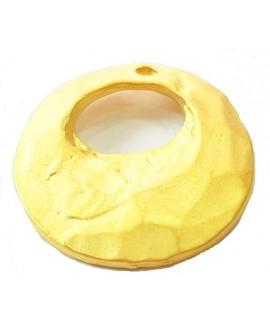 Colgante 31x28mm paso 1mm, baño de oro 22 kilates