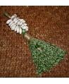 Borla de fibra natural y conchas cauri, largo 20cm