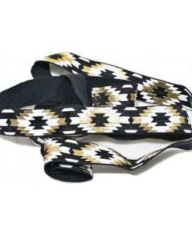 Cinta elástica azteca 15x3mm negro, precio por metro