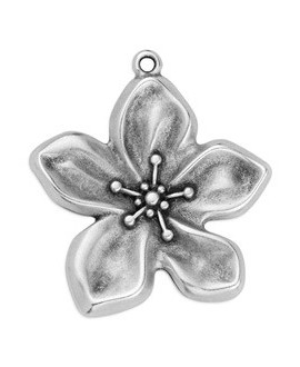 Colgante flor 37,1x40,5, zamak baño de plata