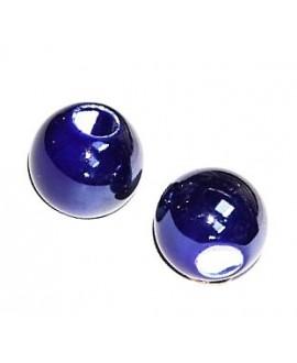 Cuentas de porcelana esmaltada 23x25mm paso 10mm, precio por unidad
