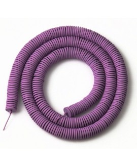 Cuentas redondas planas de hematita Purple 6mm paso 1mm, precio por ristra de 40cm