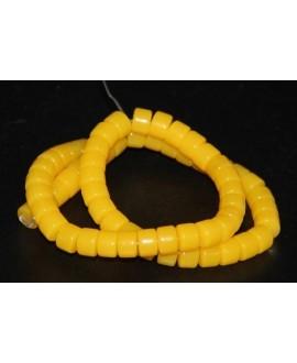 Rondel resina símil cera de abeja 6X8mm paso 1mm, precio por tira de 38cm