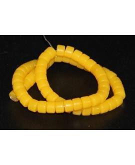 Rondel resina símil cera de abeja 5X8mm paso 1mm, precio por tira de 40 cm