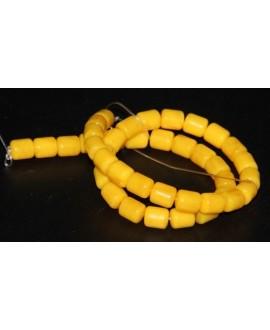 Tubo resina símil cera de abeja 10x8mm paso 1mm, precio por tira de 38 cm
