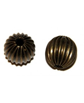 Cuenta rayas bronce 12mm, paso 2mm