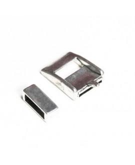 Cierre hebilla metal 25x20mm paso 15mm