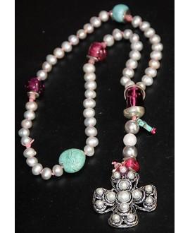 Rosario/collar perlas de río
