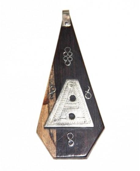 Tuareg ébano/plata 80x5-35mm