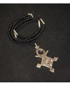 Collar cruz tuareg, largo 40cm