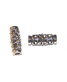 Entre-pieza tubo metal 19x6mm, paso 4mm