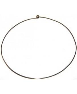 Gargantillas o collar semi-rígido, bronce, 1,5mm