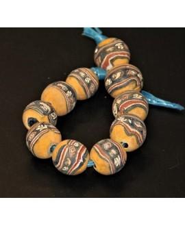 Antiguas cuentas Face beads  22mm paso 3mm, precio por 10 cuentas