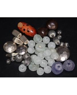 Mix- África cuentas de vidrio reciclado y krobo