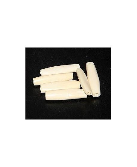 Cuenta blancas 2,5-3 cm largo, venta por unidad