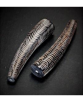 Adorno para hacer collar de cuerno largo 8.5cm paso 2cm, Malí, precio por dos unidades