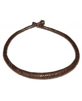 Collar cuero marrón, largo 50cm