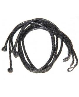 Collar cuero 3mm, largo 22,5cm