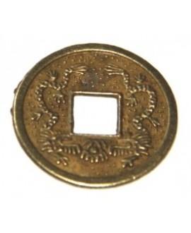 Colgante moneda china 10mm, precio por 10 unidades