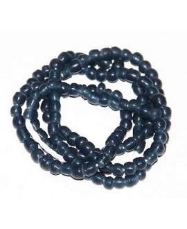 Mini transparente irregular azul oscuro Ghana, precio por ristra, 4/5mm, paso 1mm