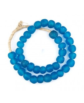 vidrio reciclado azul, precio por ristra, 8/10mm, paso 3mm.