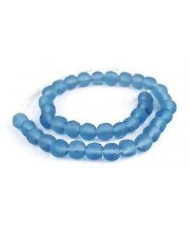 Vidrio reciclado azul claro 11/12mm paso 2mm, precio por ristra