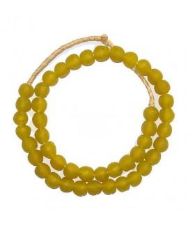 Vidrio reciclado amarillo, precio por ristra, 10mm, paso 3mm.