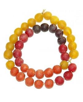 Vidrio reciclado amarillo, naranja, rojo, vino, precio por ristra, 10mm, paso 3mm.