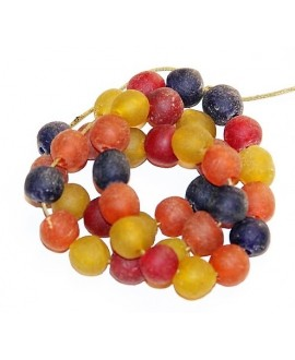 vidrio reciclado azul, rojo, naranja, amarillo, precio por ristra, 10mm, paso 3mm.