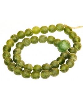 Vidrio reciclado verde, precio por ristra, 10mm+20mm, paso 3mm.