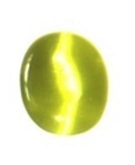 Cabujon ojo de gato pistacho, 17x13mm