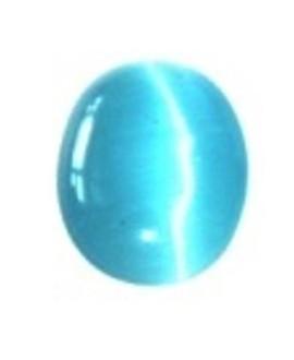 Cabujon ojo de gato azul, 17x13mm