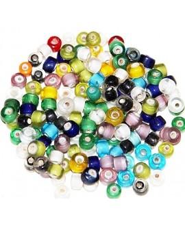 Mix rondel cristal indio 5mm , paso 1mm, precio por 50gramos