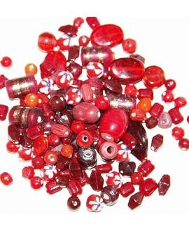 Cristal indio mix rojo, precio por 100 gramos