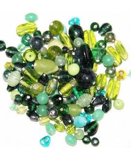 Cristal indio mix verde, precio por 100 gramos