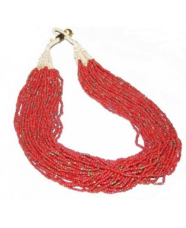 Collar Masai 30 hilos, 65 cm