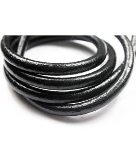 Cuero redondo 8mm negro, precio por metro