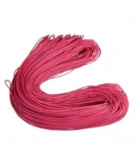 Hilo algodón fucsia 1,5mm, precio por 5 metros